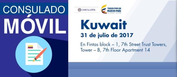El Consulado de Colombia en Abu Dhabi visitará con su unidad móvil Kuwait, el 31 de julio de 2017